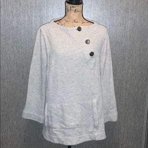 Soft Surroundings Side Button Pull Over Size L